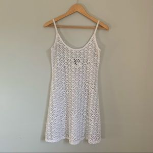 Vintage no name brand white lace slip cover up M